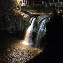 パロネラパークに流れる滝